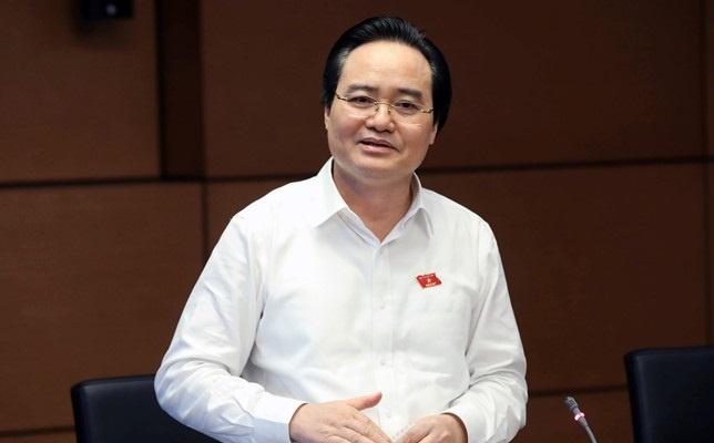 Bo truong Phung Xuan Nha tra loi chat van 3 van de nong cua giao duc hinh anh