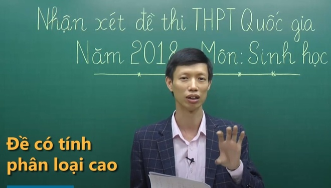 Hoc sinh gioi moi du thoi gian lam het bai mon Sinh hoc hinh anh