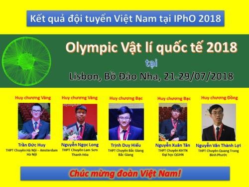 Hoc sinh Viet Nam gianh 2 huy chuong vang Olympic Vat ly quoc te 2018 hinh anh 1