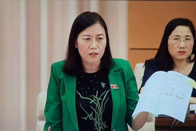 Dai bieu Quoc hoi mang sach Toan lop 1 den phien hop Thuong vu hinh anh 1
