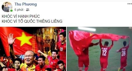 Cong dong mang chuc mung doi tuyen Viet Nam vo dich AFF Cup 2018 hinh anh 1