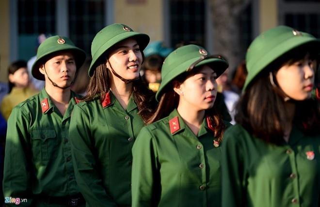 Tuyển sinh vào các trường quân đội được nhiều thí sinh quan tâm. Ảnh minh họa:V.L.