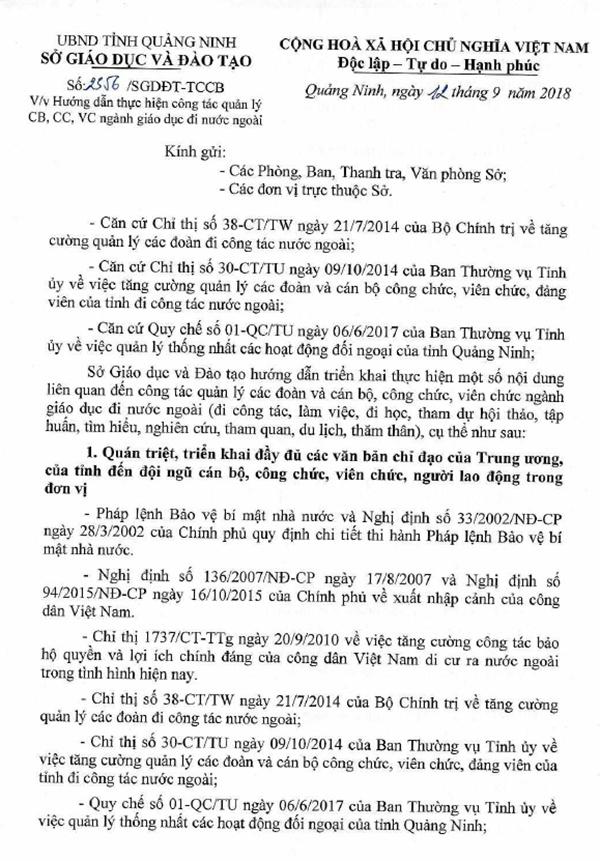 4 co giao Quang Ninh bi yeu cau ky luat khi du lich nuoc ngoai hinh anh 1