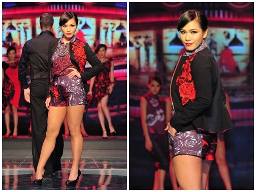 Phuong Vy lo khuyet diem chan 'cot dinh' tren san catwalk hinh anh