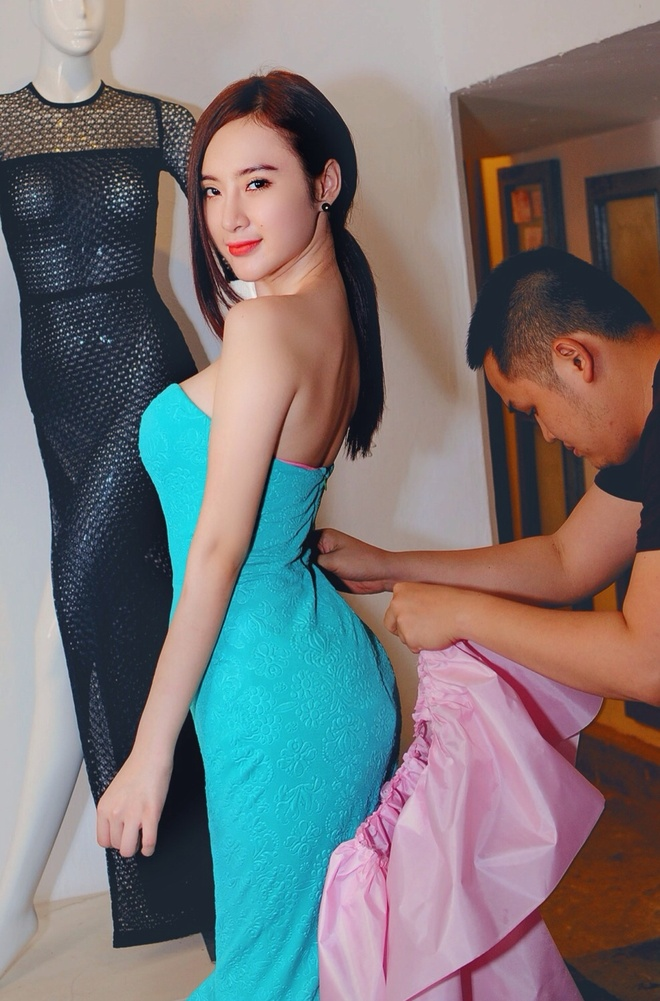 Angela Phuong Trinh khoe duong cong khi thu vay da hoi hinh anh 1