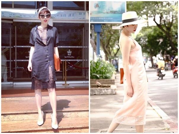 Váy ngủ nữ đang rất được nhiều sao nữ Việt ưa chuộng