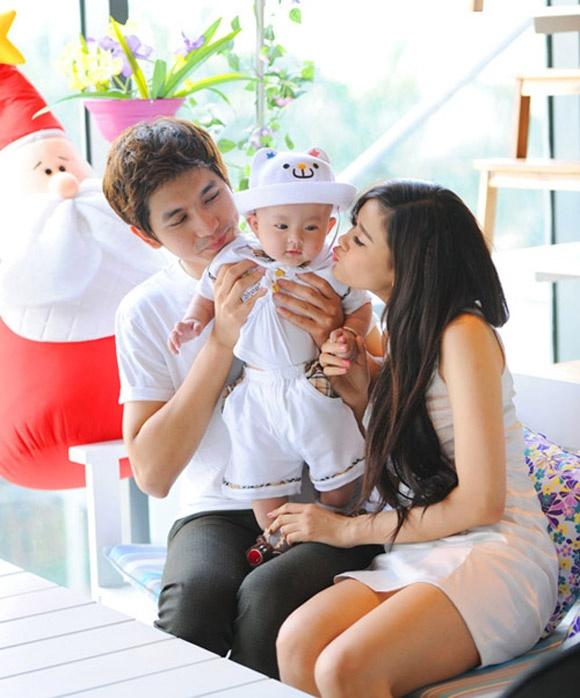 Gia đình nhỏ của Trương Quỳnh Anh.