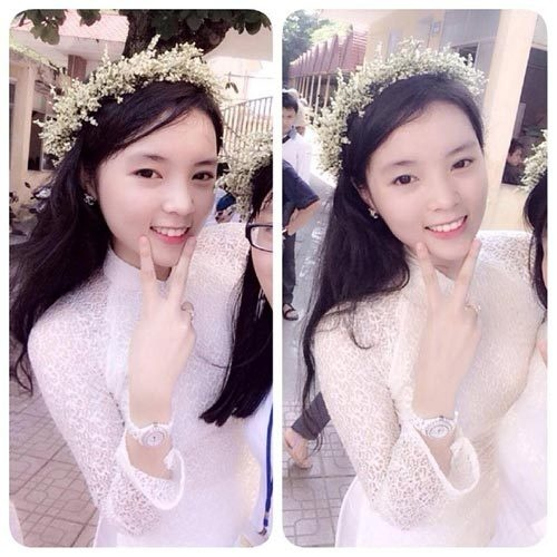 Nhung con so thu vi ve tan hoa hau Nguyen Cao Ky Duyen hinh anh 2 Vẻ đẹp trong sáng của tân hoa hậu khi còn là học sinh trường THPT chuyên Lê Hồng Phong Nam Định.
