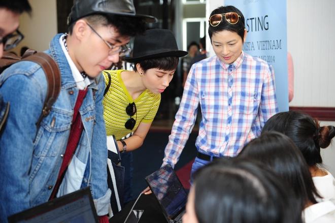 Thuy Vinh ho tong nguoi nha den casting Fashionista Vietnam hinh anh