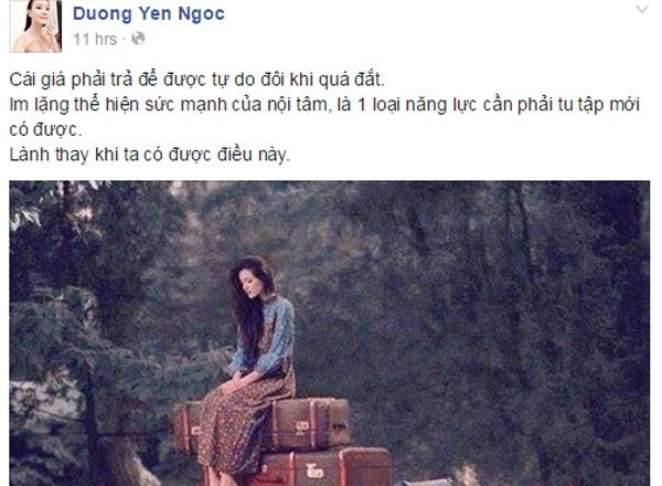 Duong Yen Ngoc noi ve nghi van da ly hon hinh anh 1