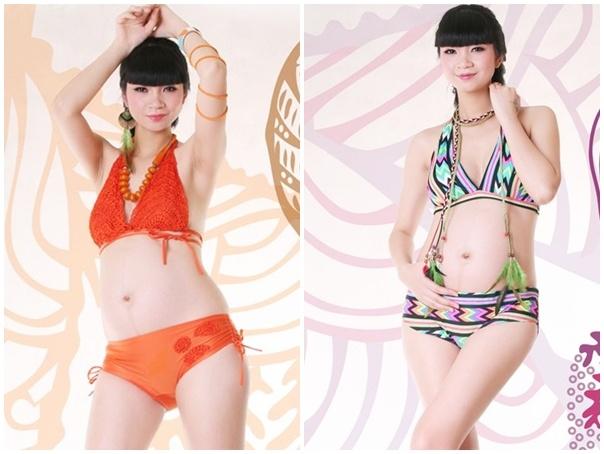 Kieu nu showbiz Viet mang bau van dien bikini goi cam hinh anh 10
