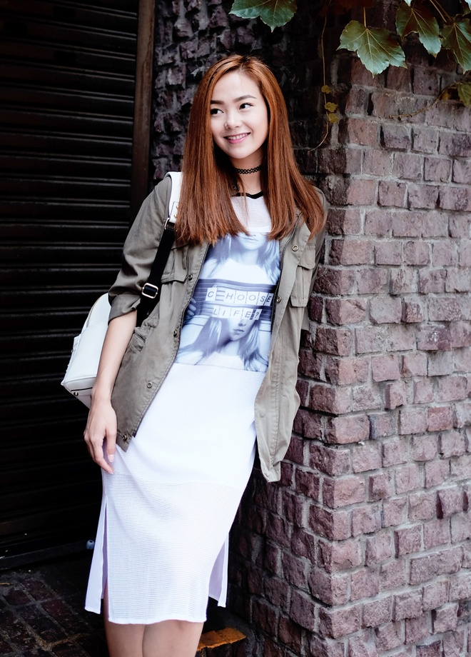 Minh Hang dien 5 set do street style du lich Han Quoc hinh anh 1