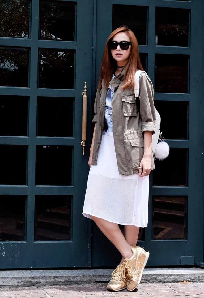Minh Hang dien 5 set do street style du lich Han Quoc hinh anh 3