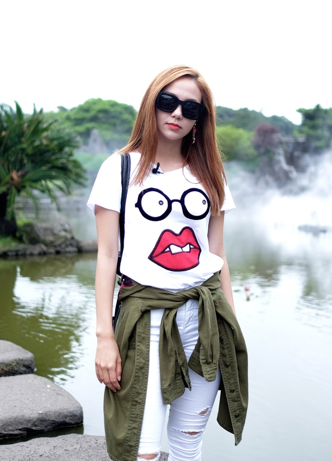 Minh Hang dien 5 set do street style du lich Han Quoc hinh anh 8