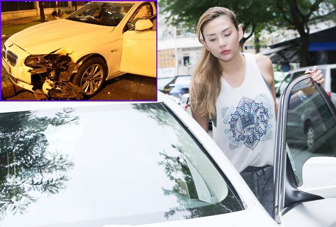 Hoang Yen ton 500 trieu sua xe hop sau vu tai nan lat xe hinh anh
