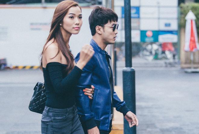 Ung Hoang Phuc va ban gai binh tam sau su co o phim truong hinh anh
