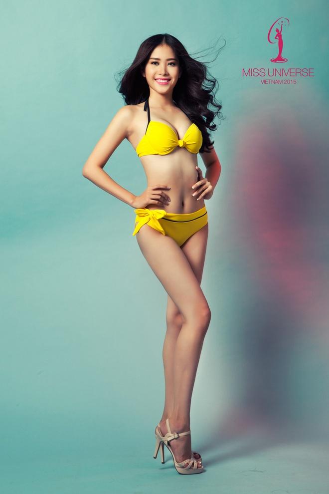 Nguoi dep HH Hoan vu mien Bac khoe so do chuan voi bikini hinh anh 1