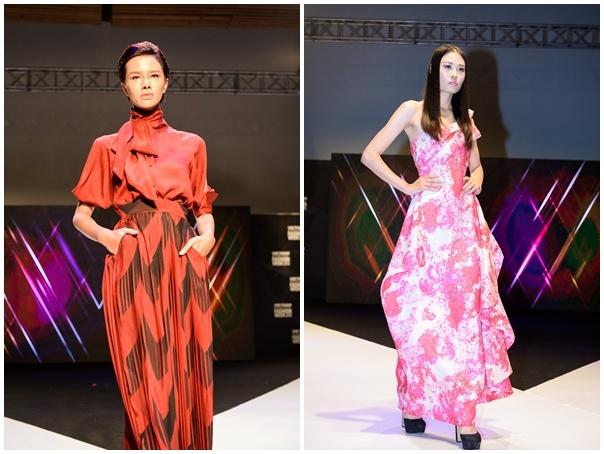 Thi sinh Next Top cao 1,9 m lan dau sai buoc catwalk hinh anh 7 Hà Đỗ cá tính trong trang phục ứng dụng của NTK Victoria Huyen Nguyen.