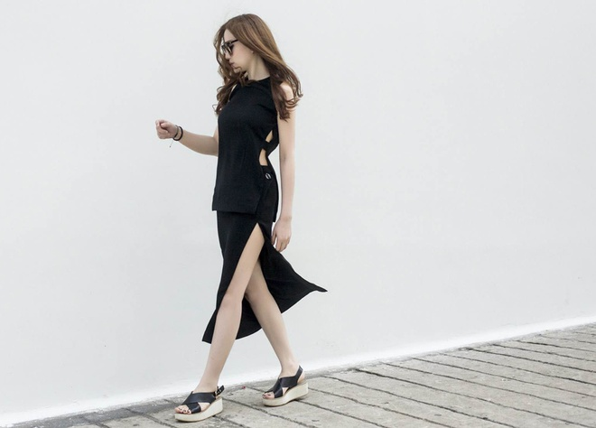 Street style thanh lich cua Thu Thuy hinh anh 5