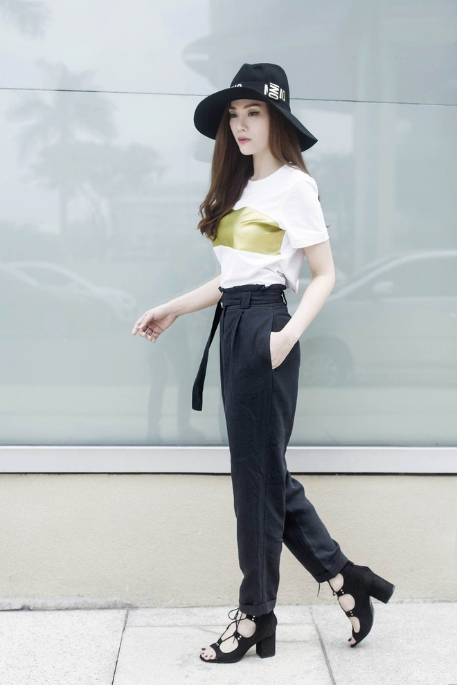 Street style thanh lich cua Thu Thuy hinh anh 7