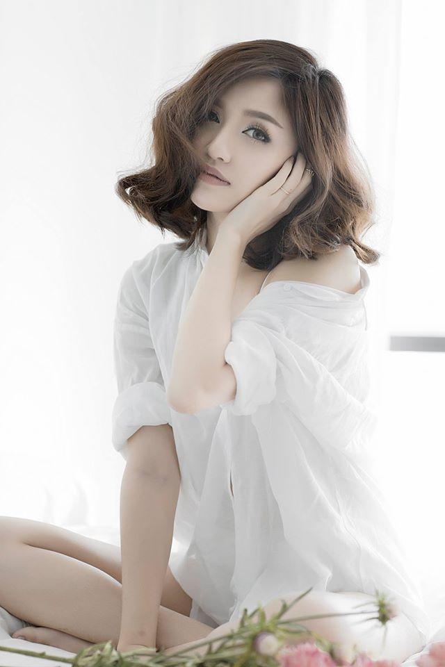 Hot girl Viet de thuong voi toc ngan hinh anh 7