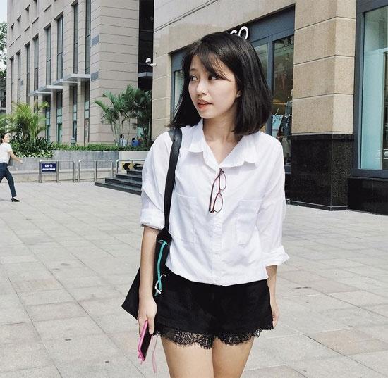 Hot girl Viet de thuong voi toc ngan hinh anh 9