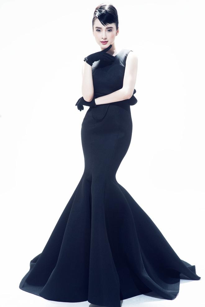 Angela Phuong Trinh trang diem giong Audrey Hepburn hinh anh 2