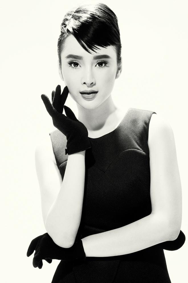 Angela Phuong Trinh trang diem giong Audrey Hepburn hinh anh 3