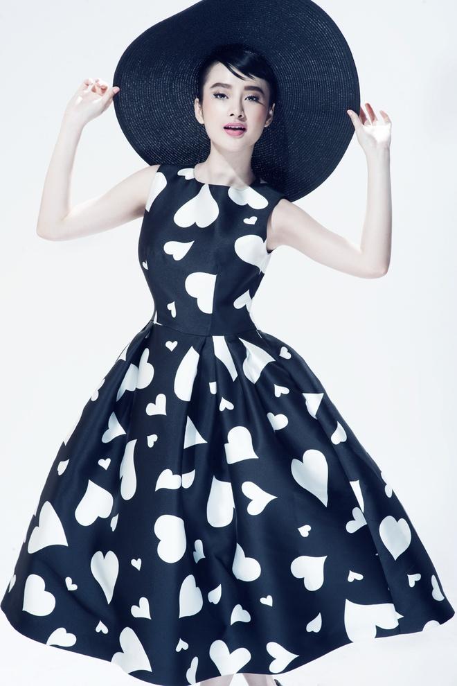 Angela Phuong Trinh trang diem giong Audrey Hepburn hinh anh 4