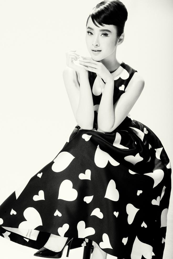 Angela Phuong Trinh trang diem giong Audrey Hepburn hinh anh 5