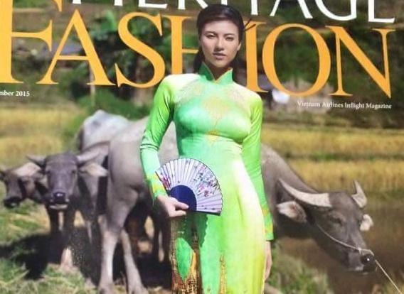 Ao dai Viet in hoa tiet chua Myanmar bi chi trich hinh anh