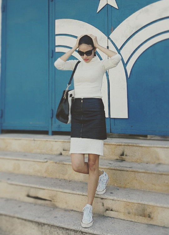 Street style tinh nghich, pha cach cua Lan Khue hinh anh 7