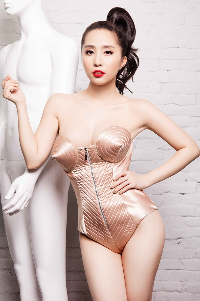 Quynh Nga khoe duong cong voi jumpsuits anh kim hinh anh 6