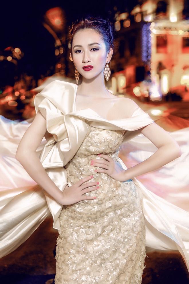 Ha Thu mang 4 vay da hoi thi Hoa hau Lien luc dia 2015 hinh anh 5