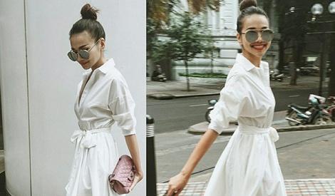Thanh Hang dien street style sanh dieu nhat tuan hinh anh