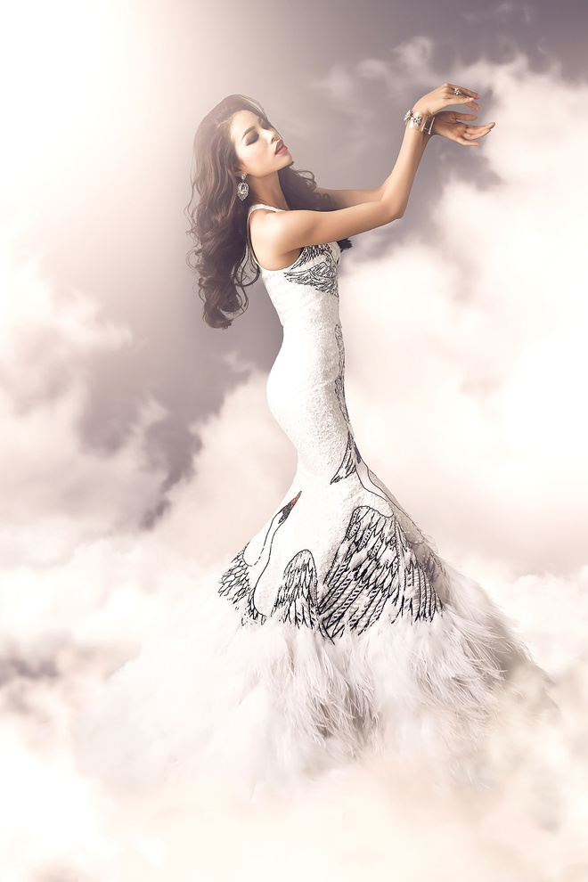 Hai vay da hoi duoc Pham Huong mac tai Miss Universe hinh anh 6
