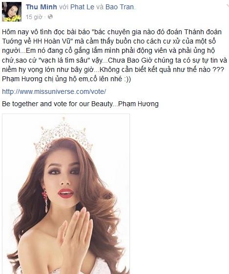 Sao Viet du doan Pham Huong lot top 3 Hoa hau Hoan vu hinh anh 5