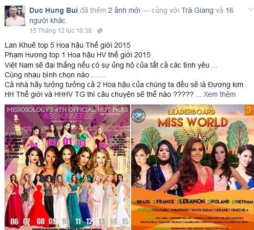 Sao Viet du doan Pham Huong lot top 3 Hoa hau Hoan vu hinh anh 2