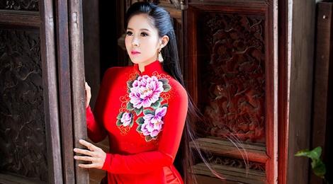Le Phuong gioi thieu 4 ao dai xuan tuoi tan hinh anh