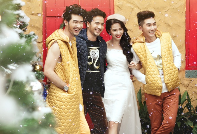 Doan Thanh Tai, Phan Thi Mo goi y trang phuc Noel nang dong hinh anh 8