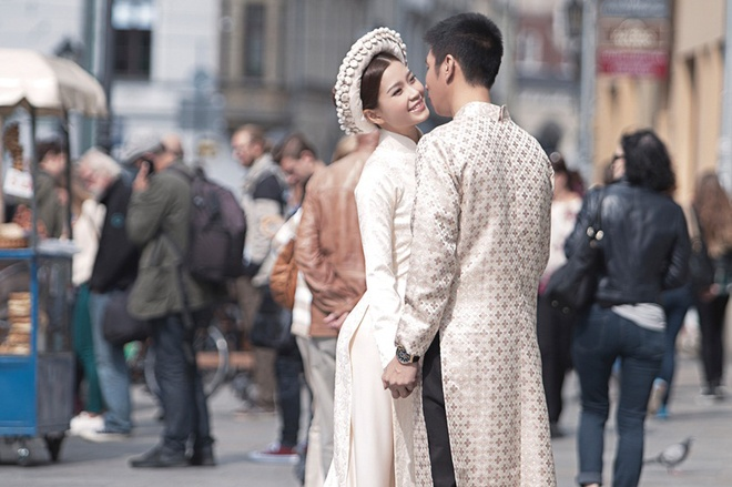 A hau Diem Trang va chong doanh nhan chup anh cuoi o chau Au hinh anh 9