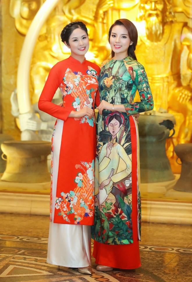 Hoa hau Ky Duyen, Ngoc Han dien ao dai duyen dang hinh anh 4
