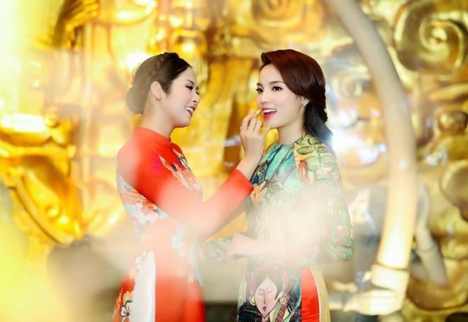 Hoa hau Ky Duyen, Ngoc Han dien ao dai duyen dang hinh anh 5