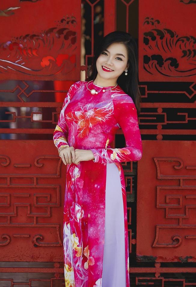Thanh Ngoc diu dang trong ta ao dai co dien hinh anh 5