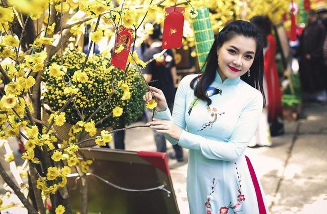 Thanh Ngoc diu dang trong ta ao dai co dien hinh anh 6