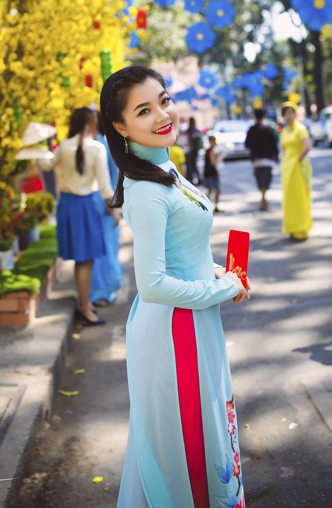 Thanh Ngoc diu dang trong ta ao dai co dien hinh anh 7