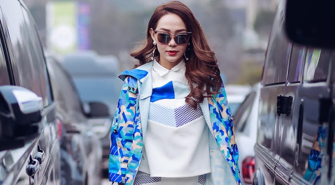 Minh Hang sanh dieu tai Seoul Fashion Week hinh anh