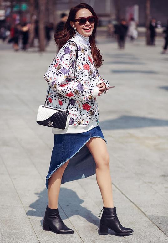 Minh Hang,  Ha Ho dien street style dep nhat tuan anh 1