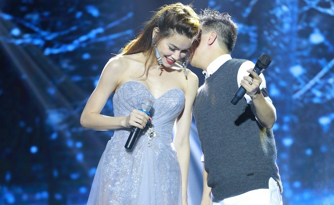 Ho Ngoc Ha den Vinh ung ho live show Mr Dam hinh anh