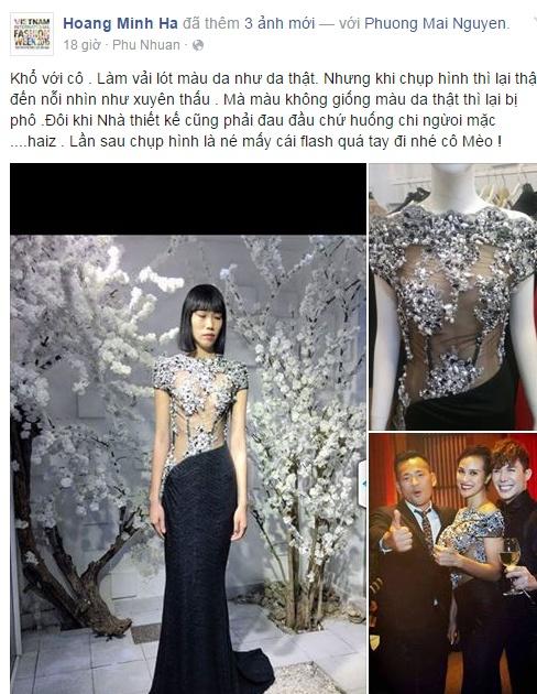 Nha thiet ke thanh minh ve bo vay khoe nguc cua Phuong Mai hinh anh 1